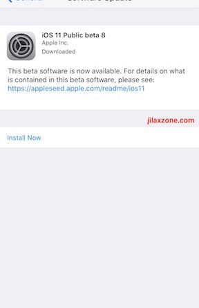 iOS 11 Public Beta 8 jilaxzone.com available for download