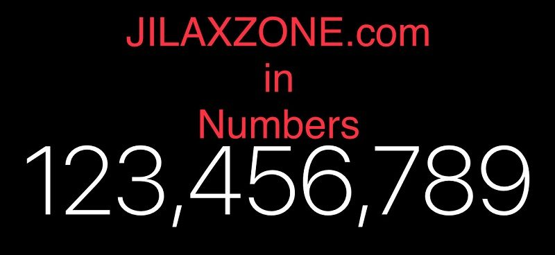 jilaxzone.com by the numbers
