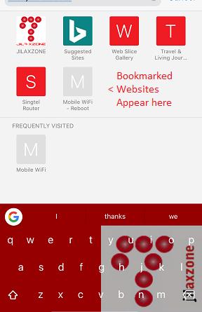 Bookmark on Safari jilaxzone.com Bookmark View