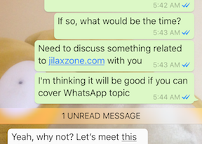 Read and reply whatsapp but still not online jilaxzone.com