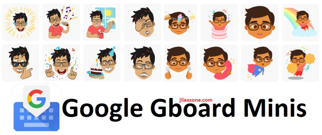 Google Gboard Minis jilaxzone.com Apple Memoji Samsung AR Emoji