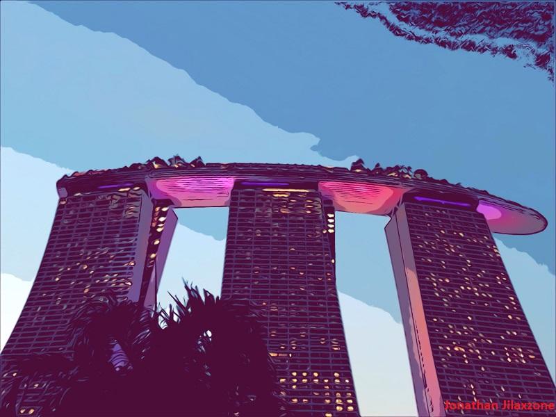 iOS 12 Comic Camera Filter jilaxzone.com Singapore MBS Marina Bay Sands