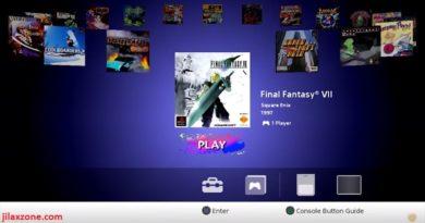 PlayStation Classic Home Menu jilaxzone