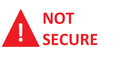 Not Secure sign on browser jilaxzone.com