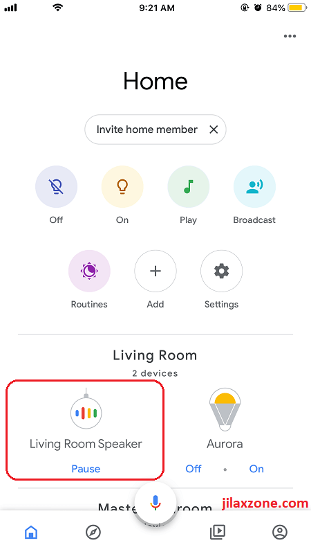 Google Home jilaxzone.com smart speaker setting