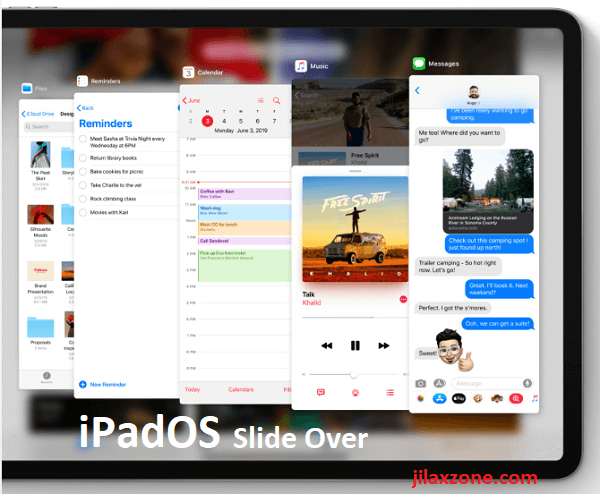 iPadOS slide over jilaxzone.com