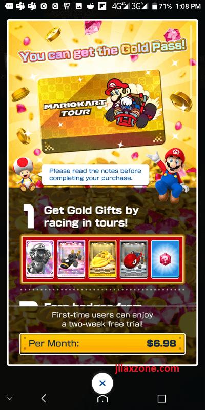 mario kart tour jilaxzone.com gold pass