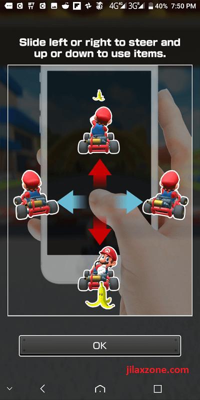 mario kart tour jilaxzone.com touch control