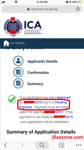 Renew REP SPR pending payment jilaxzone.com