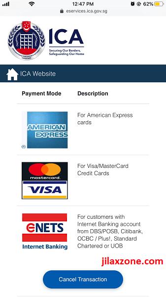 SPR REP renewal by amex visa mastercard enets jilaxzone.com