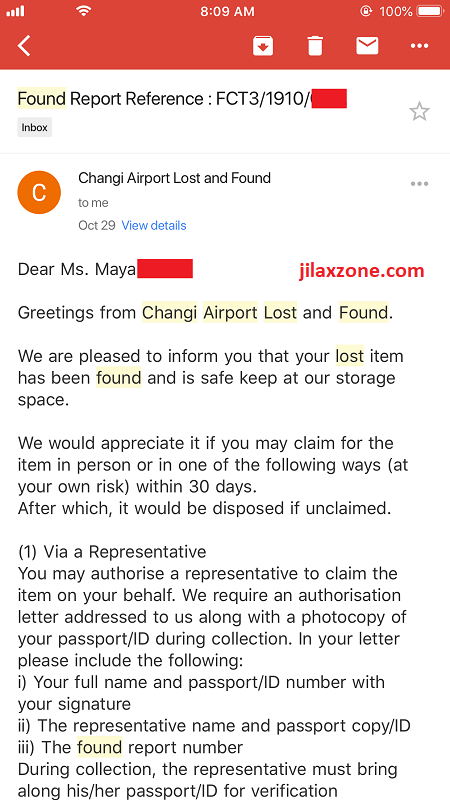 singapore changi airport lost and found email jilaxzone.com