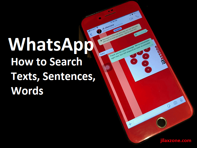 How to search text easily in WhatsApp – No scrolling – No eye-balling | Android | iPhone
