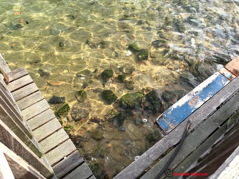 clean seawater at changi beach