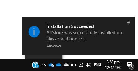 altstore installation success jilaxzone.com