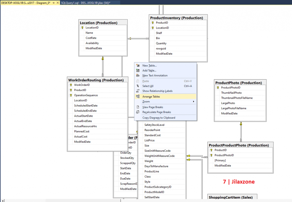 sql server database diagram arrange table jilaxzone.com