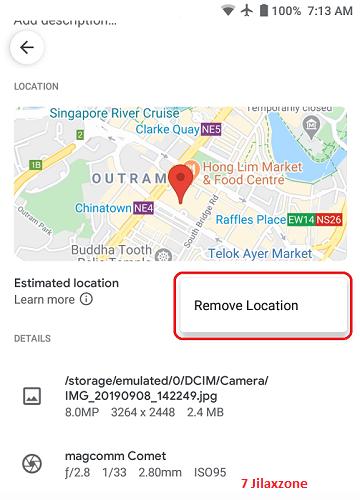 Android Google Photos remove photo location jilaxzone.com