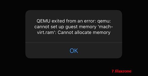 utm vm qemu fix cannot allocate memory error jilaxzone.com