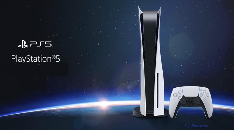 ps5 playstation 5 console and logo jilaxzone.com