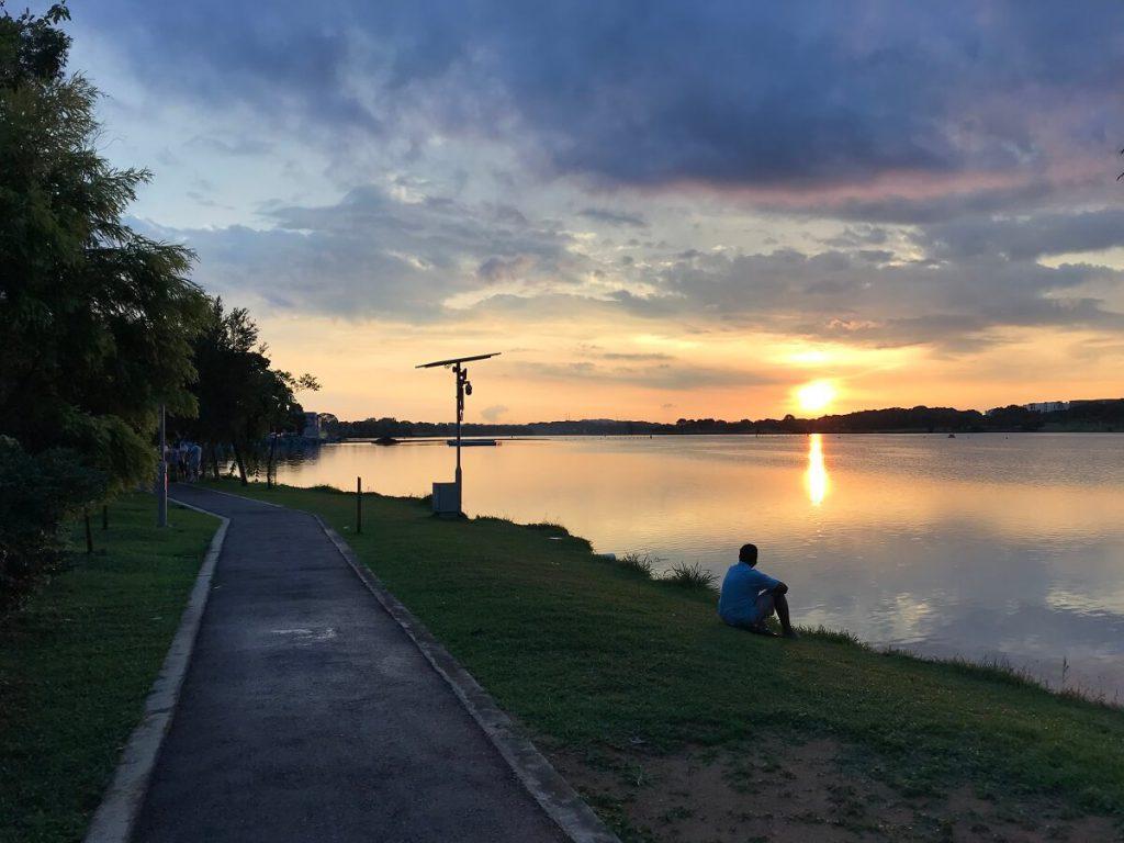 watching sunset at rower's bay jilaxzone.com