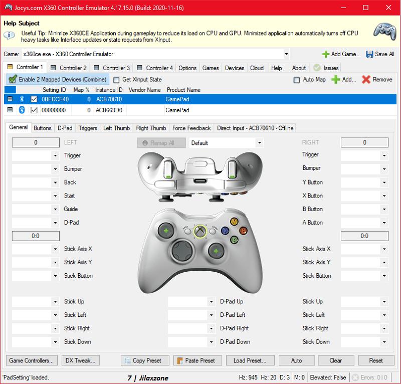 xbox360ce xbox 360 controller emulator jilaxzone.com