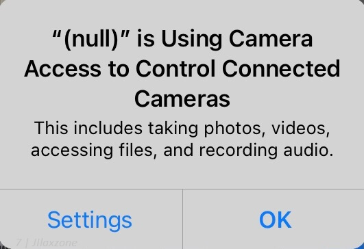 fix for null is using camera access on iphone jilaxzone.com
