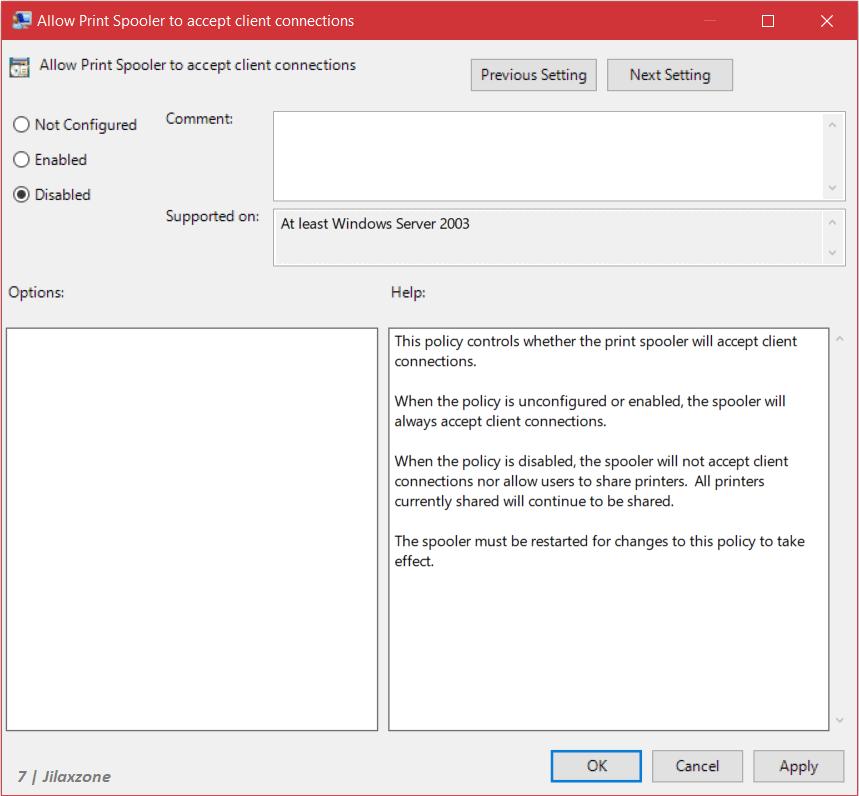 windows disabling print spooler group policy jilaxzone.com